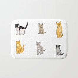 Baesic Cat Pack Bath Mat