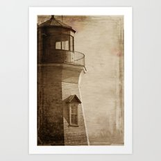 Sepia Light House Art Print