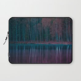 Forest Reflections Purple and Green Laptop Sleeve