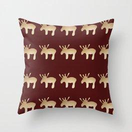 Reindeer queues #decor #buyart Throw Pillow