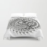 tribal Duvet Covers featuring Tribal by Bethany Mallick