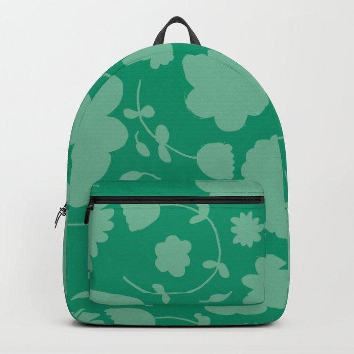 Floral green Backpack
