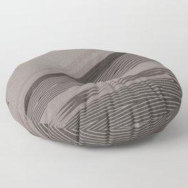 Abstract asymmetrical pattern in beige tones . Floor Pillow