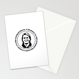 """MacGyver quote: """"If this works, it'll keep us from getting caught...."""" Stationery Cards"""