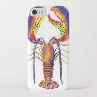 lobster iPhone & iPod Cases featuring lobster by Urquhart