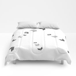 Embossedfeatherspat Comforters