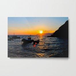 Cinque Terre Sunset Metal Print