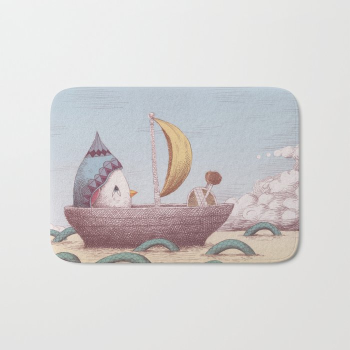 Drummer Bird - Sailing Bath Mat