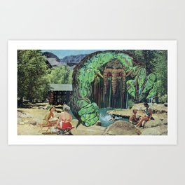 All Kids Out of the Pool - Vintage Collage Art Print