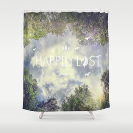 Happily Lost II Shower Curtain
