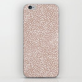 Little wild cheetah spots animal print neutral home trend warm dusty rose coral iPhone Skin