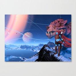 Alien Girl Canvas Print