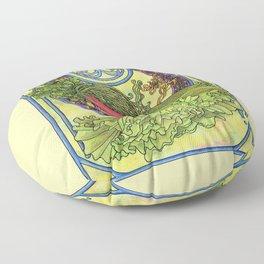 Art nouveau. Spices and vegetables Floor Pillow