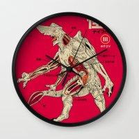 kaiju Wall Clocks featuring Kaiju Anatomy by MeleeNinja