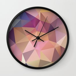 Abstract of triangles polygon in multicolor Wall Clock