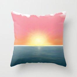 Peaceful Current Throw Pillow