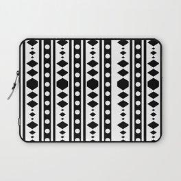 Black Tribal Pattern Laptop Sleeve
