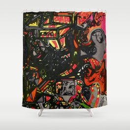 Inferno Fire Shower Curtain
