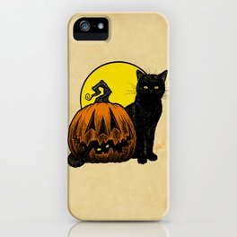 Still Life with Feline and Gourd iPhone Case