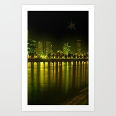 emerald city of roses Art Print