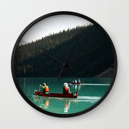 Lake Canoe Wall Clock