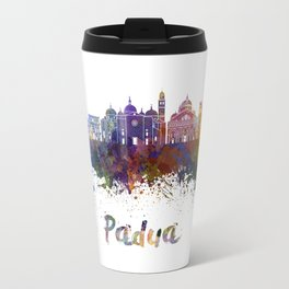 Padua skyline in watercolor Travel Mug