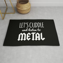 Cuddle Listen To Metal Music Quote Rug