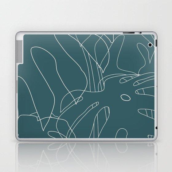 Monstera No2 Teal Laptop & iPad Skin