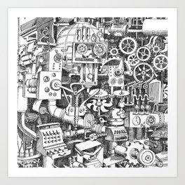 DINNER TIME FOR THE ROBOT Art Print