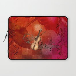 Music, violin with violin bow Laptop Sleeve