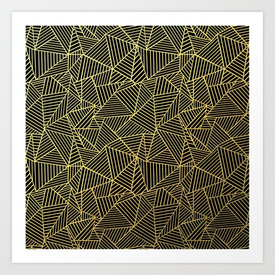 Ab 2 R Black and Gold Art Print