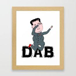 Kim Jong Un Dabbing Framed Art Print