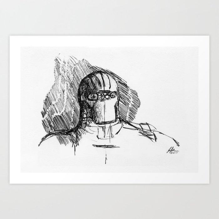 Warbot Sketch #037 Art Print