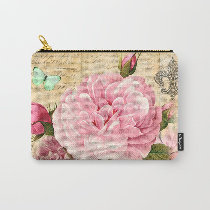 Vintage Flowers #25 Carry-All Pouch
