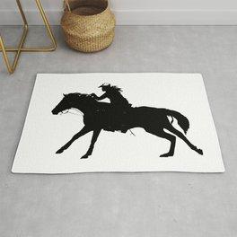 Cowgirl - Horse Rider Rug