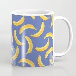 Bananas & Solid Blue Coffee Mug