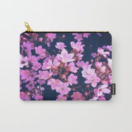 blooming pink flowers garden texture background Carry-All Pouch