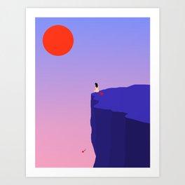 Cliff//Rose Art Print