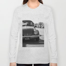 Hermosa Beach Surf Bug, Black and White Photography Print, Beach Art, South Bay Los Angeles Art Long Sleeve T-shirt