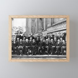 World-Renowned Physicists of 1927 at Solvay Conference Framed Mini Art Print