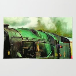 Green Steam Train Rug