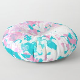 Rhea - abstract minimal painting pink and blue gender neutral nursery Floor Pillow