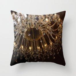 Glass Chandelier Throw Pillow