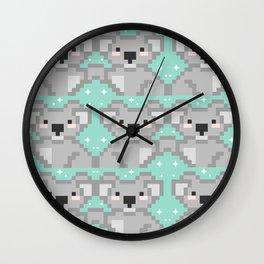 Koala pixel kawaii Wall Clock