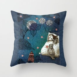 Bed-Time Throw Pillow