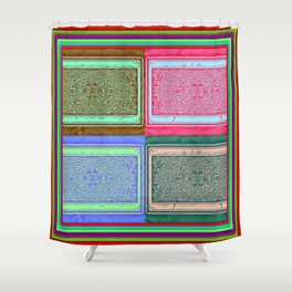 Retro brightness No'18 Shower Curtain