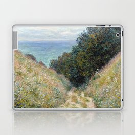 1882-Claude Monet-Road at La Cavée, Pourville-60 x 81 Laptop & iPad Skin