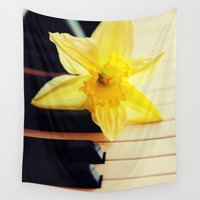 piano Wall Tapestries featuring piano flower by Falko Follert Art-FF77