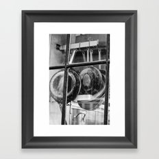 New Orleans - Window to a French Quarter Gourmet Kitchen Framed Art Print