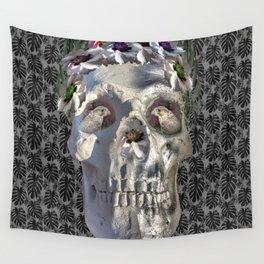 Floral Skull Wall Tapestry